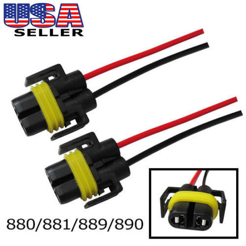 880 881 889 Female Adapter Wiring Harness Sockets Wire For Driving Fog Lights