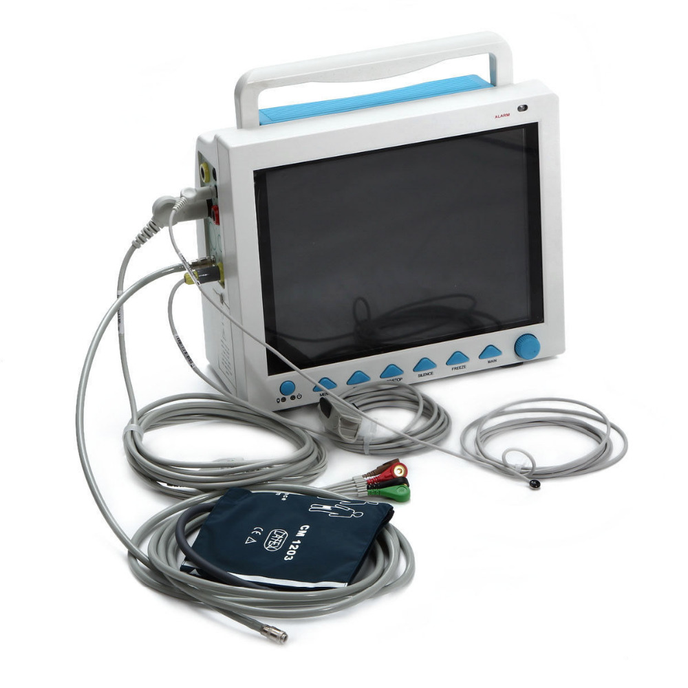 Promotion! CMS8000 ICU Patient Monitor NIBP,SPO2,PR,ECG,Resp,Temp,3y Warranty,CE gpyoja 2016 hot selling multi parameter ecg nibp spo2 pr temp resp tablet patient monitor