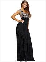 Летний стиль 2018 Мода удивительные золотые Кружево наложения разрез Длинные Для женщин Формальное вечернее платье LC60809 Vestidos Largos de Verano