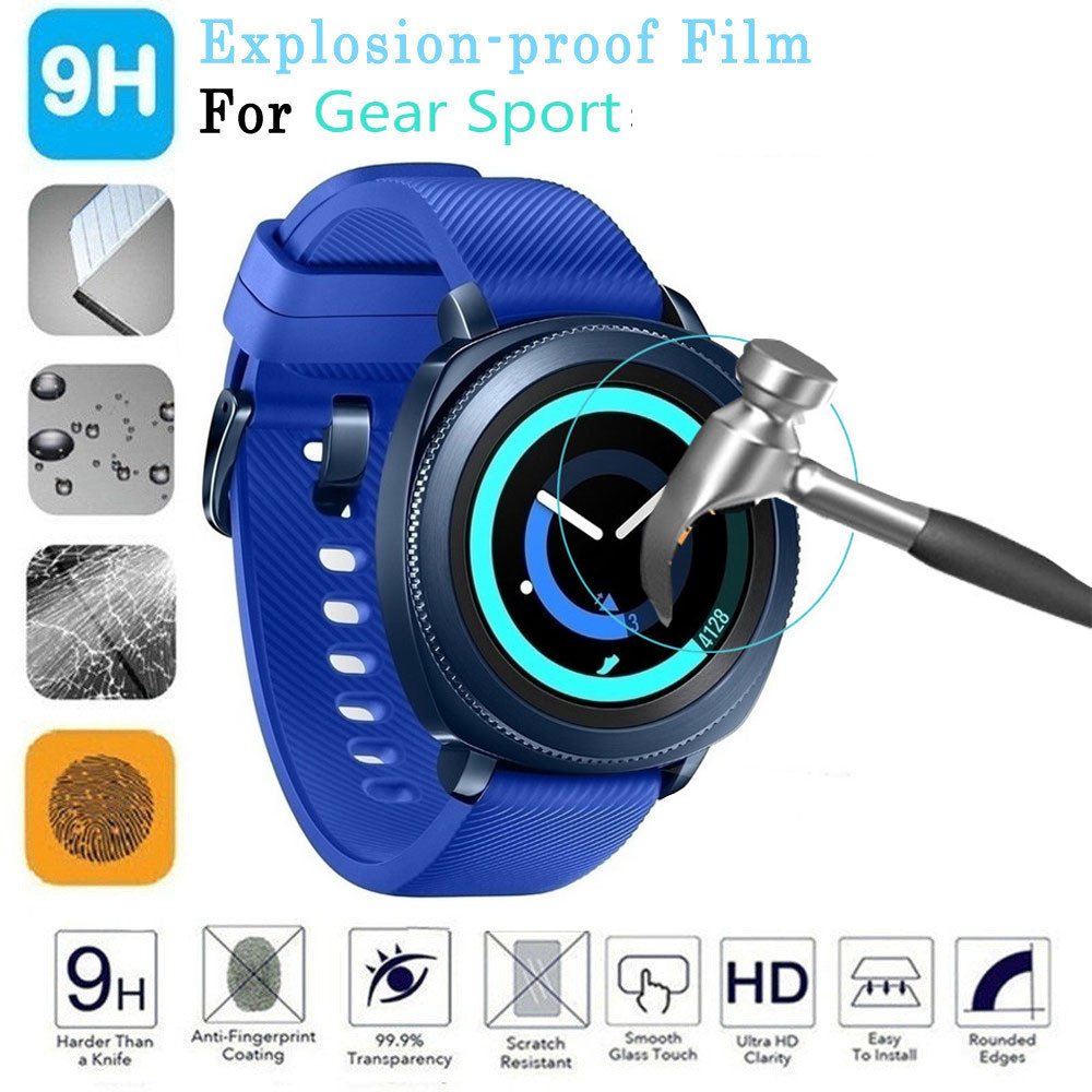 Smart Accessories Explosion-proof Screen Protector Tempered Glass Film For Samsung Gear Sport SM-R600 Watch for Dropship Aug18
