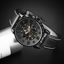 Keller & Weber Men Watch Mechanical Top Luxury Fashion Brand Leather Man Sport Watch Mens Automatic Watch Relogio Masculino(China)