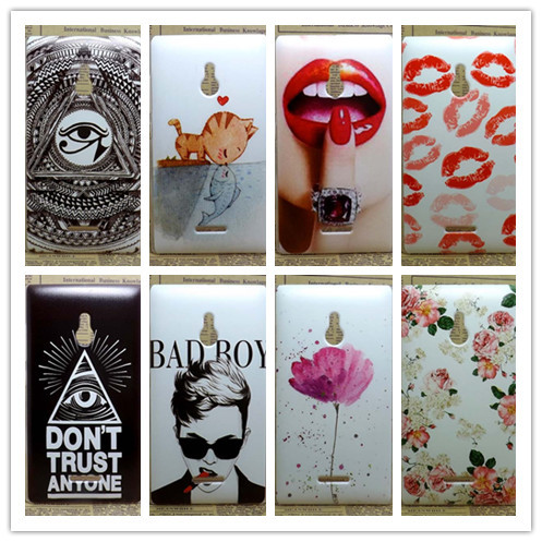 2016 New Painting Hard PC Plastic Phone Case For Nokia XL Dual SIM 1042 Shell Back Cover For Nokia XL Case