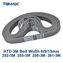 Timing Synchronous Arc POWGE Teeth-84 HTD3M 9/15mm 86 87 258 261-Width Belt-C--252-255