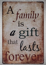1 pc Family Quotes Gifts lasts forever tin Plates Signs wall plaques man cave Decoration vintage Dropshipping Poster metal