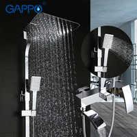 GAPPO shower faucet bathroom rainfall chrome shower mixer tap bath rain shower bathtub mixer taps armatur shower system