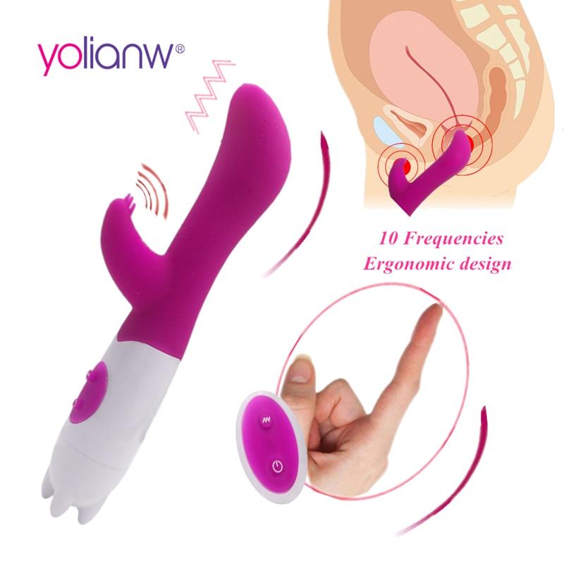10 Speeds Dual Vibration G spot Vibrator, Vibrating Stick,Sex toys for Woman, Adult Sex Toys Couples Products Dildo Vibrator