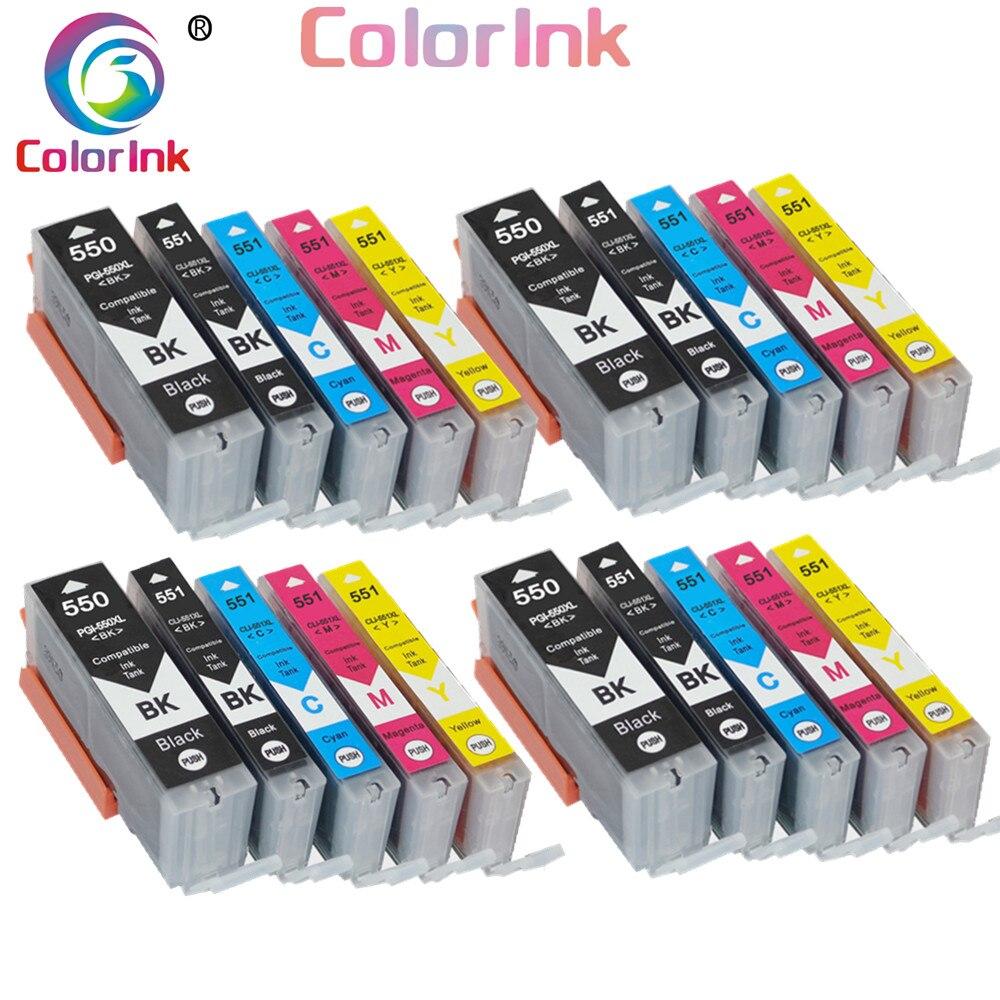 Цветной чернильный картридж PG550 CL551 XL для Canon PGI-550XL PGI550 PGI 550 CLI551 для PIXMA IP7250 MG5450 5650 6450 6650 7150
