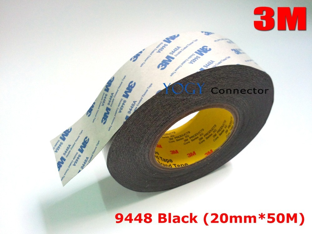 3m black 20mm 50m 3m 9448 black two sided tape for touch glass general industrial joining foam. Black Bedroom Furniture Sets. Home Design Ideas