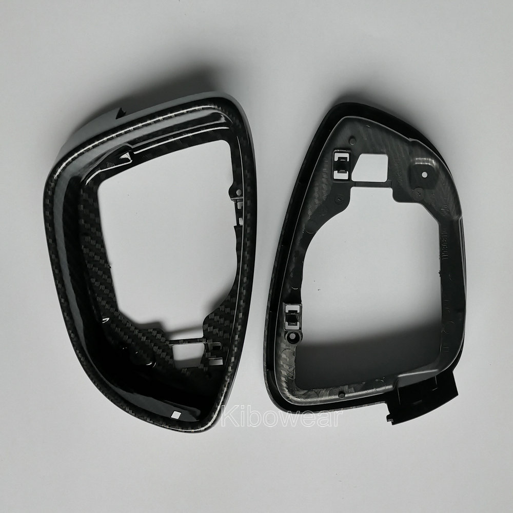 Image 3 - Pair Side Wing Mirror Housing Frame Trim (carbon look) for Volkswagen Scirocco MK3 Passat B7 CC for Jetta MK6 EOS Beetle Replace-in Mirror & Covers from Automobiles & Motorcycles