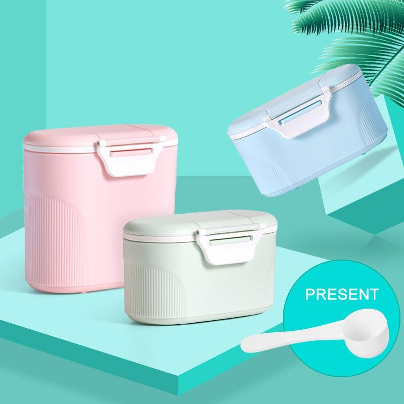 280ml/600ml Big Capacity 3 Colors Baby Food Storage Box Portable Box Milk Powder Organizer Container Receive Box Gift Case