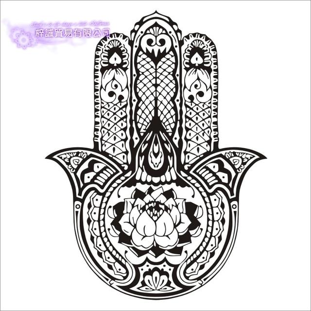 DCTAL Hand Yoga Lotus Wall Sticker Buddha Quotes Namaste ...