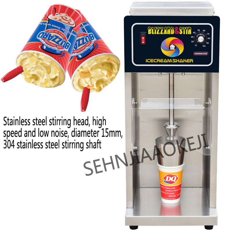 Blizzard machine ice cream machine Snowstorm machine Stainless steel ice cream mixer Commercial stirrer 220V 650W ce fried ice cream machine stainless steel fried ice machine single round pan ice pan machine thai ice cream roll machine