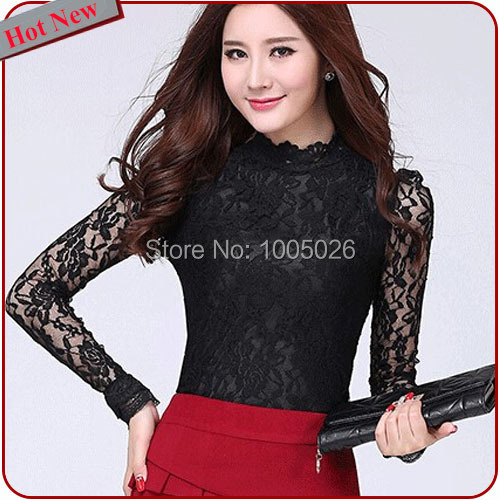 Popular Lace Turtleneck Top-Buy Cheap Lace Turtleneck Top lots ...
