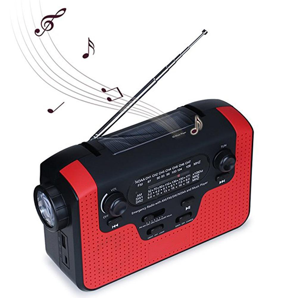 New Outdoor AM/FM/SW Solar Radio Solar Hand Crank Powerful LED Flashlight Electric Torch Dynamo Bright Lamp Bluetooth TF Radio protable am fm radio hand crank generator solar power radio with flashlight 2000mah phone charger
