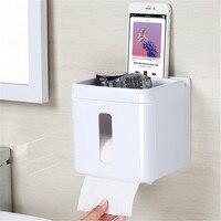 הלבן Multi-function טלפון נייד מקום מחזיק נייר טואלט רחצה מתקן נייר טואלט תיבת רקמות