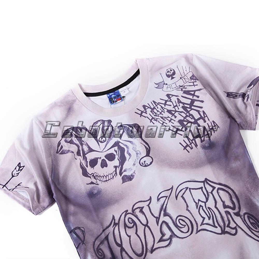 Nauji savižudybių komandų vyrai 3D spausdinti marškinėliai - Karnavaliniai kostiumai - Nuotrauka 3