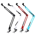 Original NB-35 Extendable Recording Microphone Metal Suspension Boom Scissor Arm Stand Holder For Mounting On PC Laptop Notebook