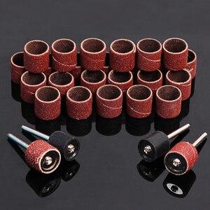 Image 5 - Kit de ponçage de tambour bande de ponçage 1/8 pouces mandrins de sable adaptés pour Dremel perceuse à ongles outils rotatifs Accessori Dremel