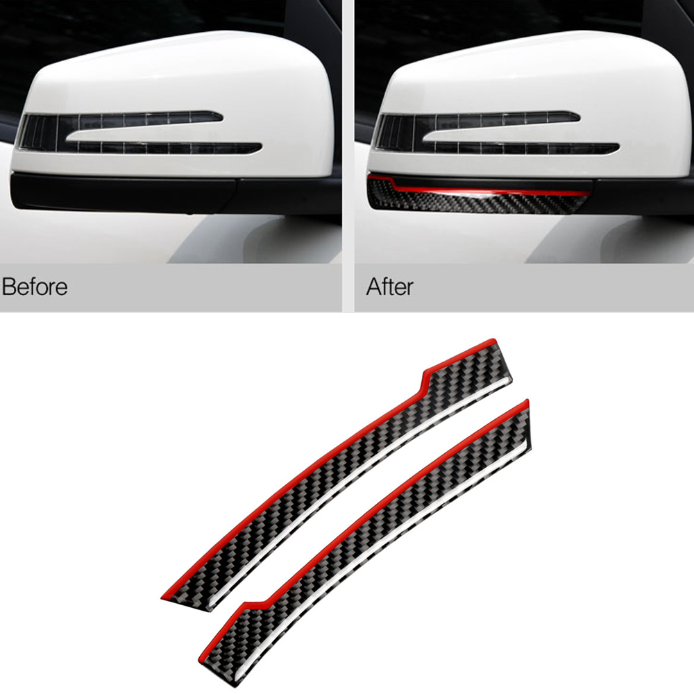 Carbon Car Styling Moldings Anti-collision Sticker Rearview Mirror Sticker for Mercedes Benz W212 W204 CLS CLA Protector Bumper