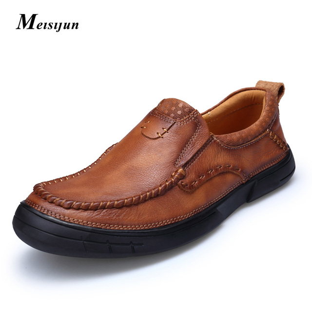 2017 The new men genuine leather shoes sleeves men shoes casual shoes