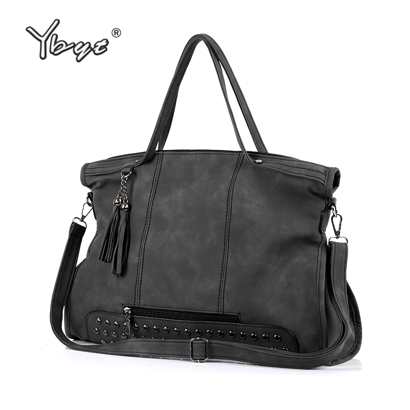 YBYT brand 2017 new casual large capacity tassel women handbag high quality ladies shopping bag shoulder