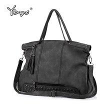 YBYT marke 2017 neue casual große kapazität quaste frauen handtasche hohe qualität damen einkaufstasche schulter messenger crossbody tasche