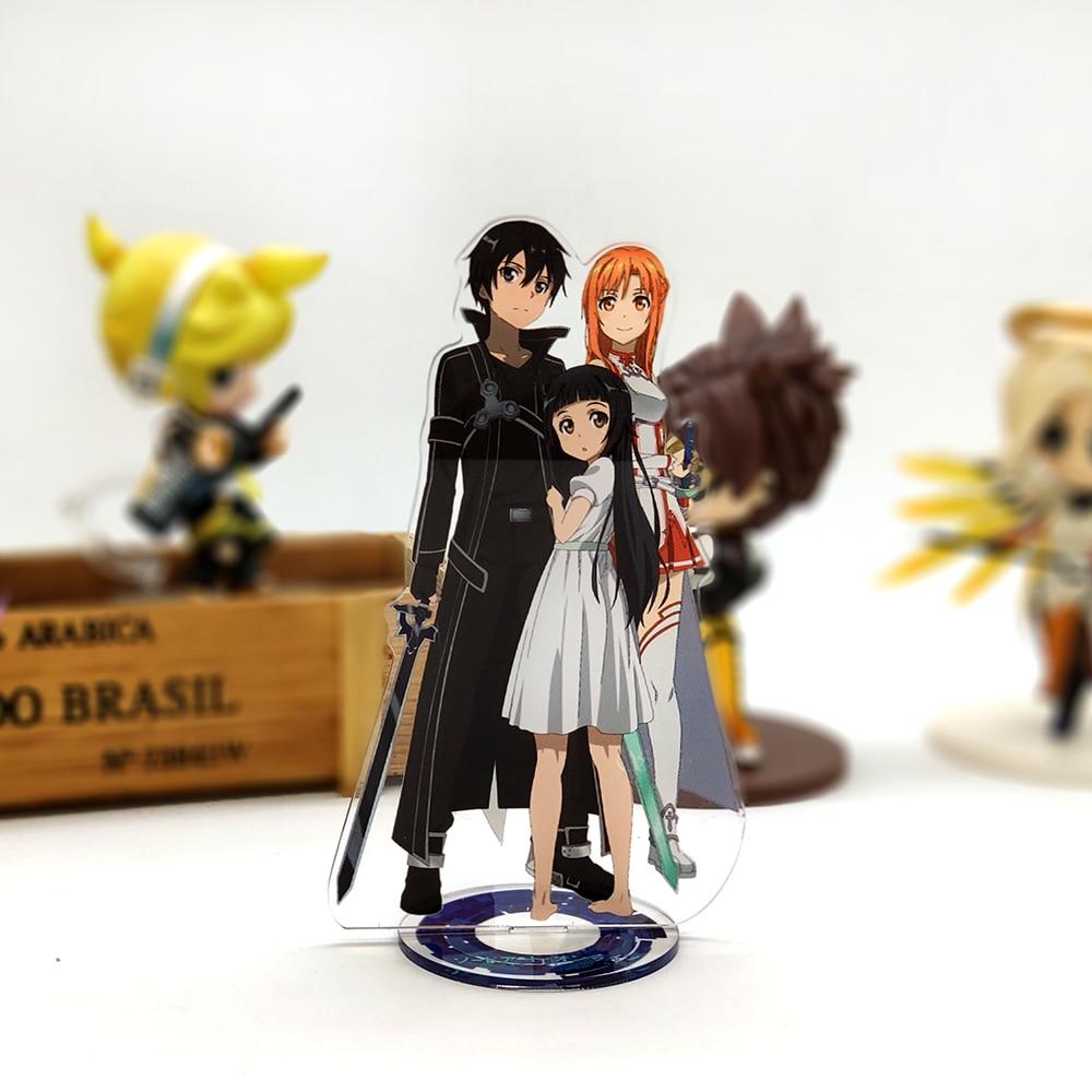 Figure-Model Topper Sword Acrylic-Stand Asuna Kirito SAO Online Anime Family Love Art