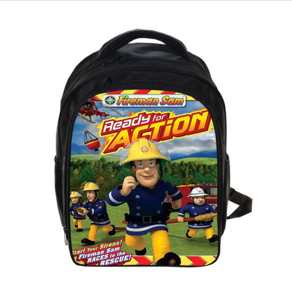 Cartoon Fireman Sam font b Backpack b font Thomas And Friends Robocar Poli font b Backpack