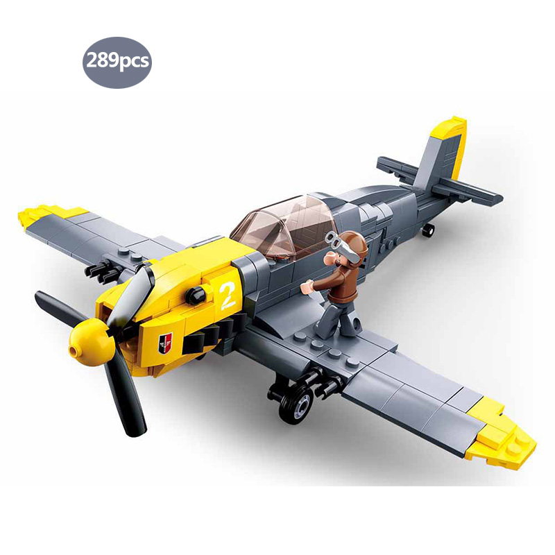 Military WW2 Messerschmitt <font><b>BF</b></font>-109 Fighter Panzer II SWAT Police Team Building Blocks army soldier Figures Toy for <font><b>Children</b></font> gifts image