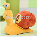 ALIEXPRESS FREE SHIPPING 25cm turbo 3D Fast snail plush toy doll dolls little snail doll birthday present female tuba