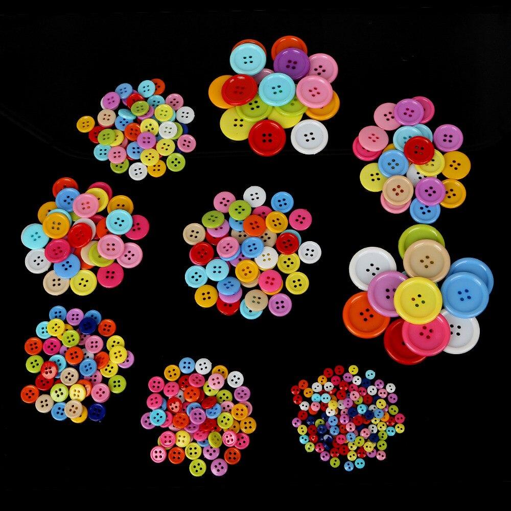 Горячая Распродажа 20 Вт, 30 Вт, 50/100/200 штук случайный смешанный пластик и цветочными пуговицами для пришивания пуговиц одежда аксессуары ремесел детская с рисунком и пуговицами
