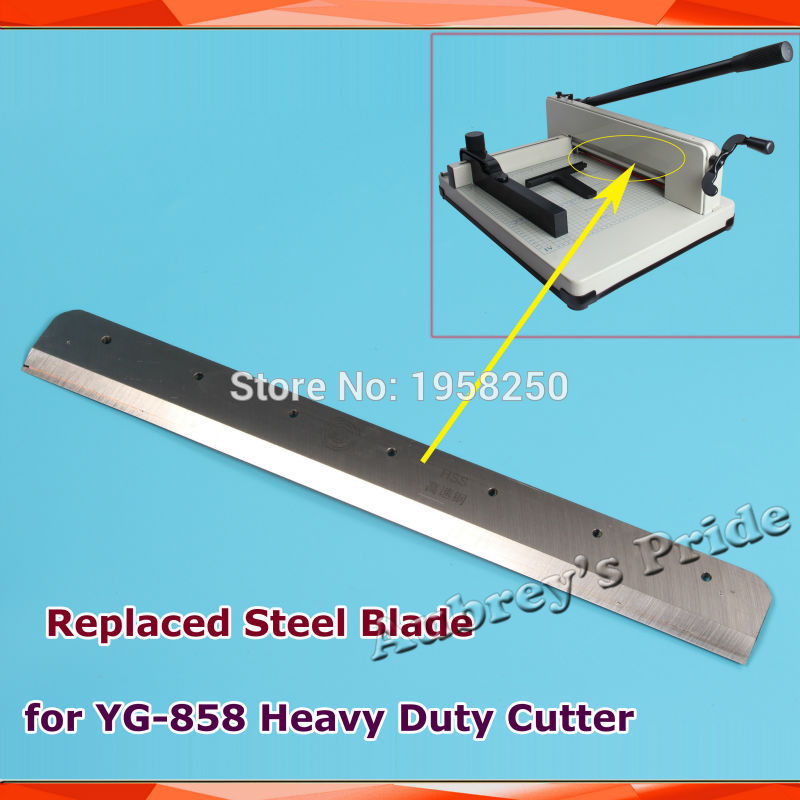 Free Shipping 1Pc YG 858 A4 A3 Size Replaced Steel Blade for Heavy Duty Stack Paper