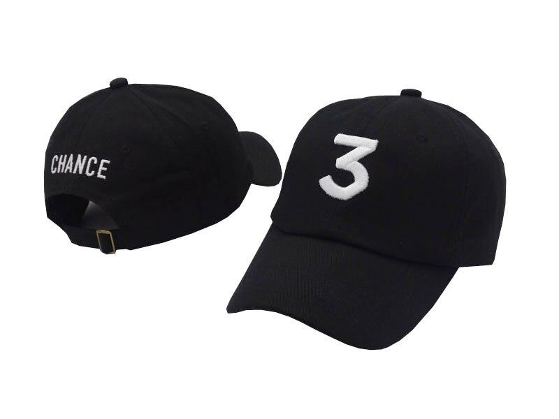 Popular chance the rapper 3 Hat Cap white pink Black Letter Embroidery Baseball Cap Hip Hop Streetwear Snapback Sun Hat Bone bone para bordar
