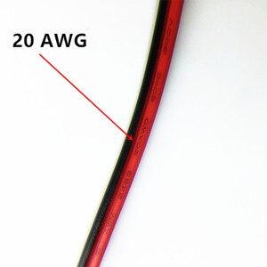 Image 2 - 30 m כבל מאריך חוט נחושת משומר 20awg 98ft 2 Pin מבודד PVC led רצועות הרכבה חוט 5 V 12 V 24 V DC
