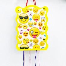 1pc/set Cartoon Smile Face Emoji Folding Pinata Kids Birthday Party Game Decoration Funny Boys Supplies