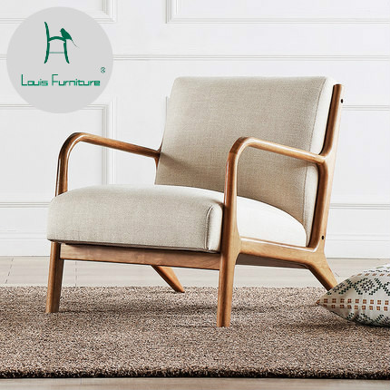 Louis Fashion Living Room Chairs North European Simple Modern Single ...