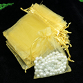Wholesale 100pcs High Quality 13x18cm Large Organza Bag Gold Color Wedding Gift Candy Bags Jewelry Package Pouch