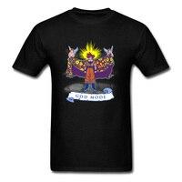 Anime Men Tshirt Dragon Ball Goku God Mode T Shirt For Student Top T Shirts Comic