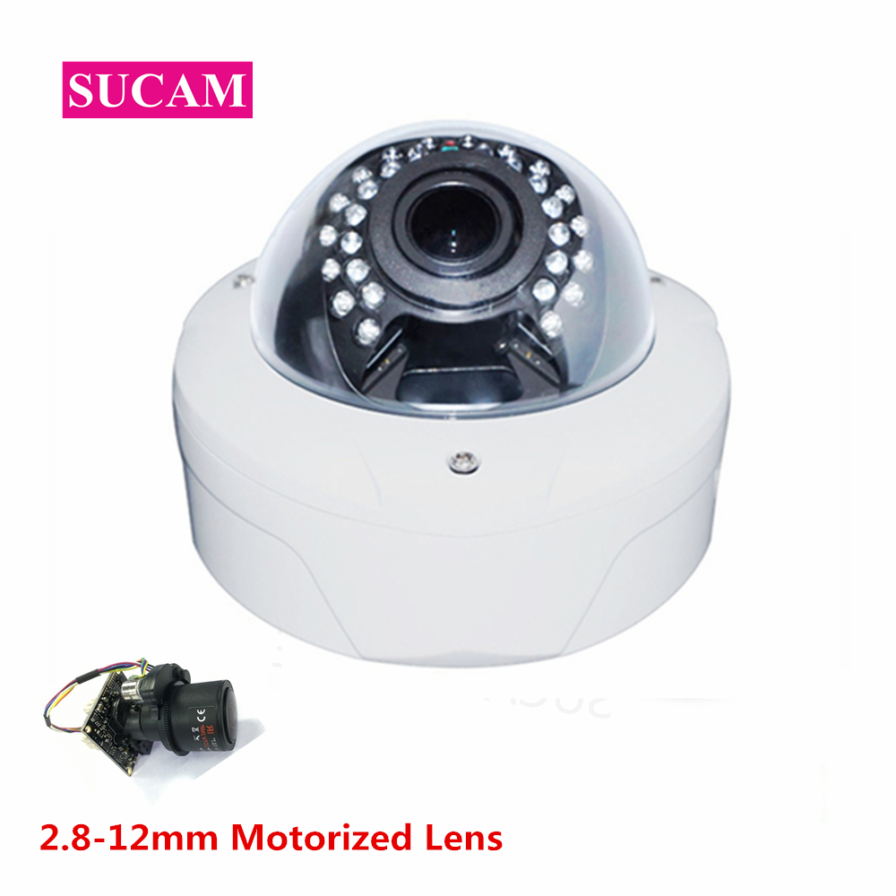 SUCAM Full HD 2.8-12mm Motorized Varifocal Lens 1080P AHD Security Camera 4xZoom Video Surveillance CCTV Camera with OSD Cable sony imx322 ahd camera ahdh 1080p full hd cctv surveillance security camera osd button