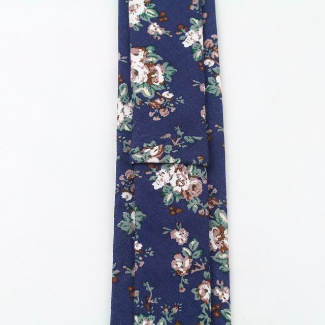 Corbata de algodón Skinny Slim