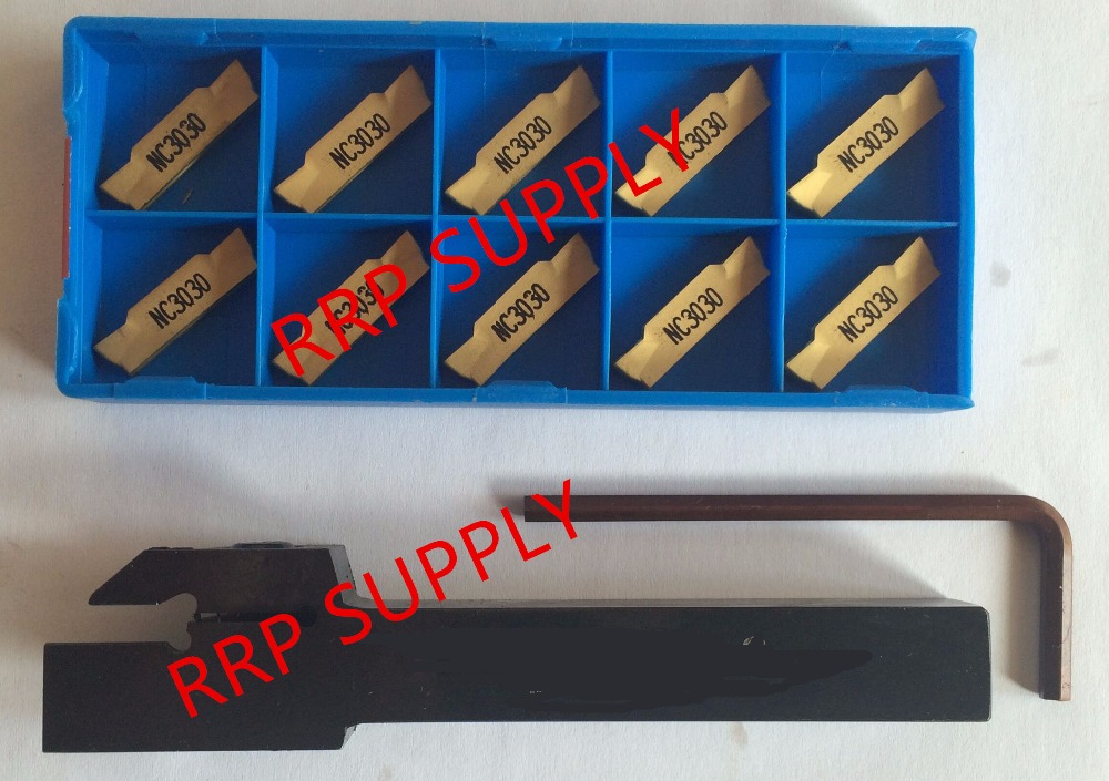 1P MGEHR2525-2.5 Grooving boring bar tool Holder CNC with+10P MGMN250-M K01