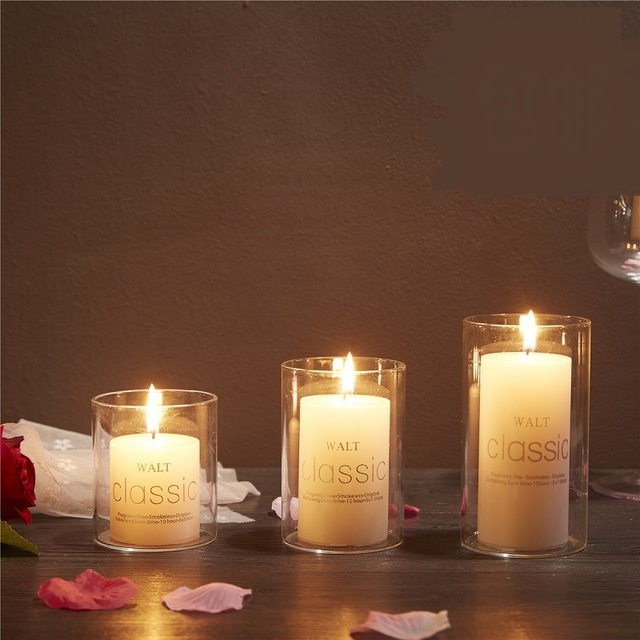 New Creative Scented Birthday Weddings Candles Flameless Gl Holder Clic Aromatherapy Decoration