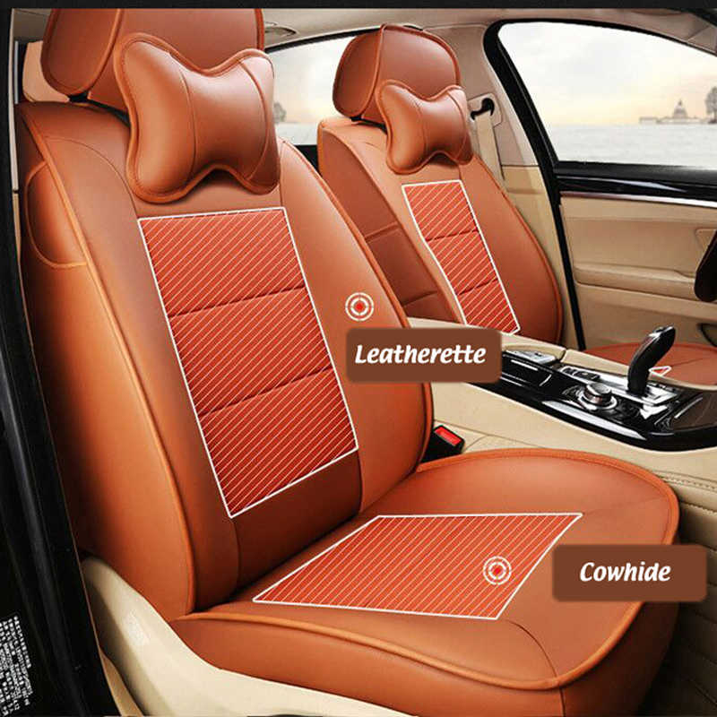 Miraculous Ausftorer Cowhide Leather Seat Covers For Ford Mustang 2015 2016 2017 2019 Seat Cover Accessories Car Seats Cushion Styling 12Pc Squirreltailoven Fun Painted Chair Ideas Images Squirreltailovenorg
