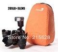 Профессиональный Раздела Мягкий DSLR Камеры Видео-Мешок-вкладыш рюкзак ЗЕРКАЛЬНЫЕ Ударопрочный объектив для Cannon Nikon Pentax # caseman
