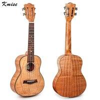 Kmise Tiger Flame Classical Guitar Head Concert Ukulele Solid Okoume Body 23 Ukelele Hawaii Guitar For