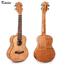 Kmise Tiger Flame Classical Guitar Head Concert Ukulele Solid Okoume Body 23 Ukelele Hawaii Guitar for Music Lover