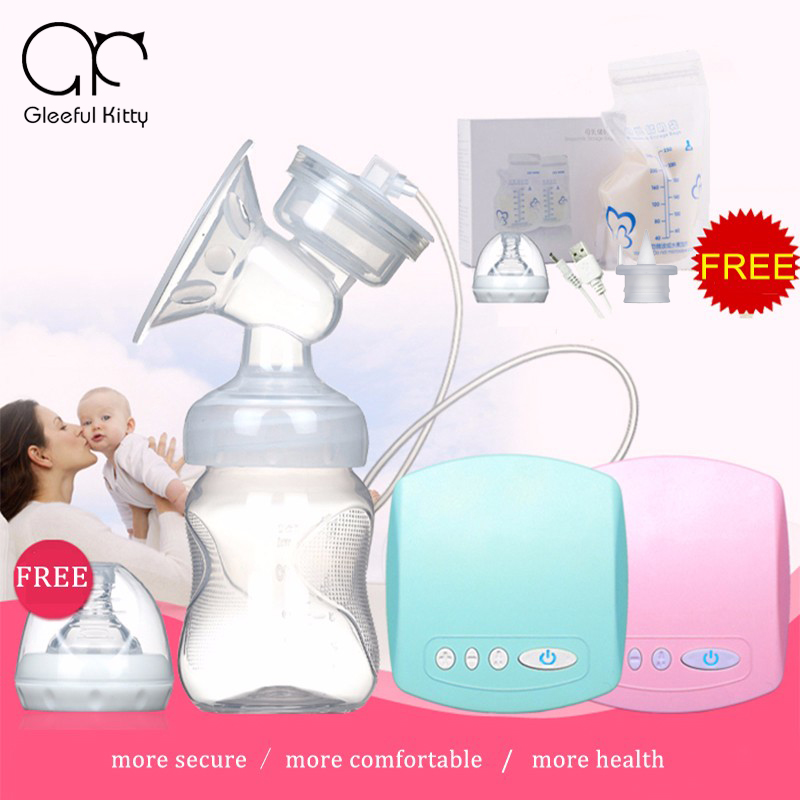 Christmas Gift 2017 Intelligent Automatic Electric Breast Pumps Nipple Suction Milk Pump Breast Feeding Usb Electric breast pump new manufacturer direct low price pink usb breast pump milk powerful nipple suction breast bottle feeding electric breast pumps