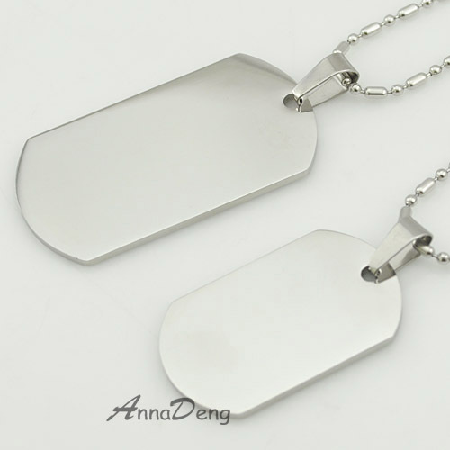 CHIMDOU Dog Tag Stainless Steel Pendant Necklace Military Soldiers metal stamping blanks Tags wholesale KJP08