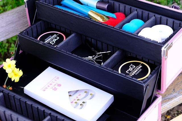 MSQ Конфеты Розовый Цвет Мода Макияж Окно Высокое Качество Comestic Случае Для Красоты