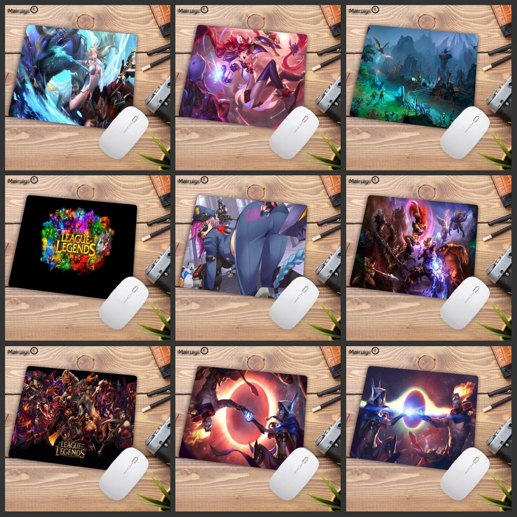 Mairuige Big promotion League of Legends LOL mouse pad gamer play mats Small Size Gaming Mouse Pad Gamer for Dota2 Game Player image